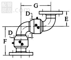 昭和技研工業:パールスイベルジョイント C型 スタイルNo.5 型式:パールC-5-50A