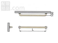 ミヤコ:被覆握りバー MB150HS 型式:MB150HS-ココアブラウン-500