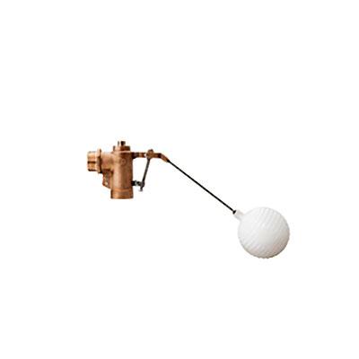 アイエス工業所:水位調整機能付複式ボールタップ WA(銅ボール) 型式:WA-50(銅ボール)