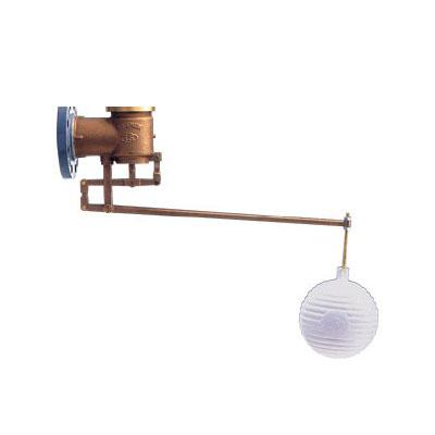 アイエス工業所:複式ボールタップ:フランジ式(呼び径:65・80・100・125・150・200mm) WWX/WWJ(銅ボール) 型式:WWJ-100(銅ボール)