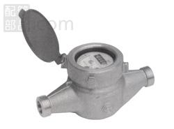 愛知時計電機:小型水道メーター 中口径 型式:PD-40 (ガス管金具付)