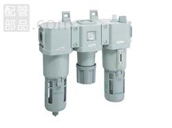 CKD:FRLユニット(オートドレン付き) 型式:C3000-10-W-F