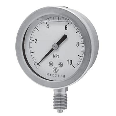 長野計器:グリセリン入り圧力計(A枠立型) 型式:GV51-133-5.0MP