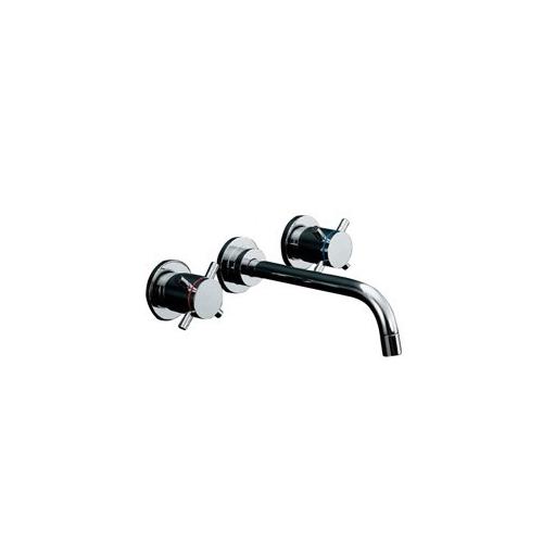 カクダイ:壁付2ハンドル混合栓 型式:125-001