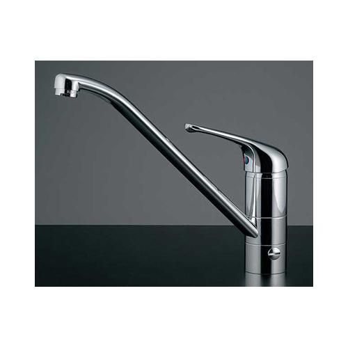 カクダイ:シングルレバー混合栓(分水孔つき) 型式:117-031