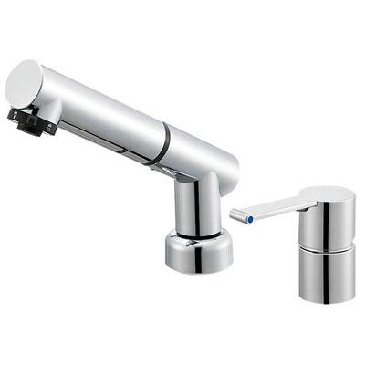 SANEI(旧:三栄水栓製作所):シングルスプレー混合栓(洗髪用) 型式:K37510JKZ-13