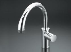 KVK:流し台用シングルレバー式シャワー付混合栓 型式:KM708ZG