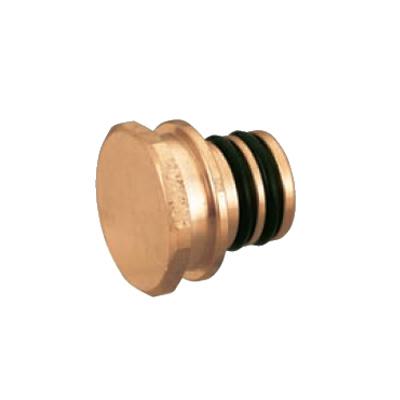 オンダ製作所:クイックジョイント給水給湯用 プラグ 青銅製 (お買い得パック) 型式:QPJ6-14C-S(1セット:200個入)