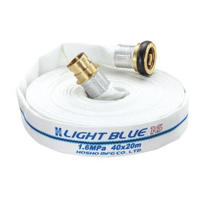 消防用配管器具 > 消防・散水ホース > 消防・散水ホース 報商製作所:ライトブルーホース 1.6MPa 型式:HLA-200(50A×20m)