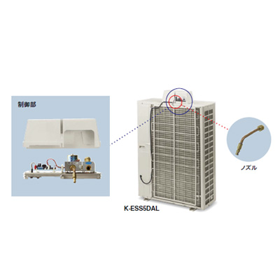 オーケー器材:パッケージエアコン用低水圧対応タイプ(3~6HP用) 型式:K-ESS6DAL