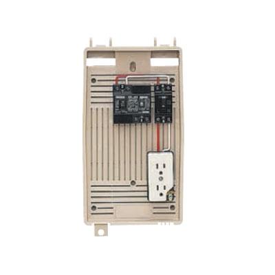 未来工業:屋外電力用仮設ボックス(漏電しゃ断器・分岐ブレーカ・コンセント内蔵) 型式:2L-1CT