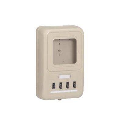 未来工業:電力量計ボックス 分岐ブレーカ(2P1E・20A)・ELB(2P30A・OC)付 型式:WP2-201HKM