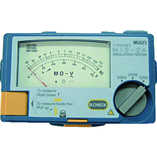マルチ計測器:マルチ アナログ絶縁抵抗計 MIS-2A 型式:MIS-2A