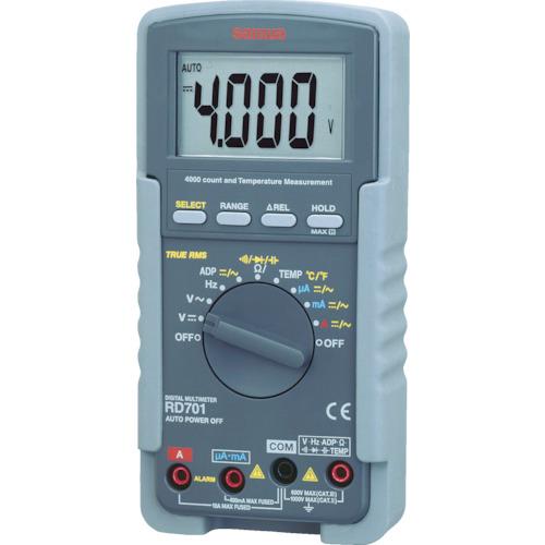 三和電気計器:SANWA デジタルマルチメータ 真の実効値対応 RD701 型式:RD701
