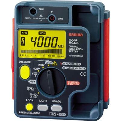 三和電気計器:SANWA デジタル絶縁抵抗計 1000V/500V/250V MG1000 型式:MG1000