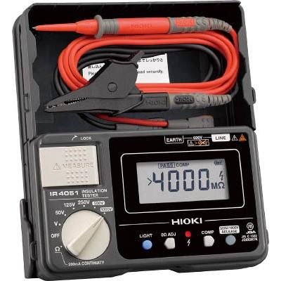 日置電機:HIOKI デジタル絶縁抵抗計(5レンジ) IR4051-10 IR4051-10 型式:IR4051-10