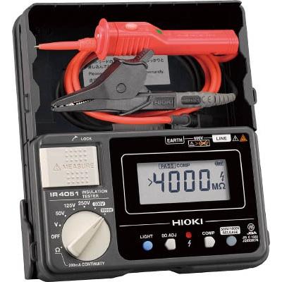 日置電機:HIOKI デジタル絶縁抵抗計(5レンジ) スイッチ付きリード IR4051-11 型式:IR4051-11