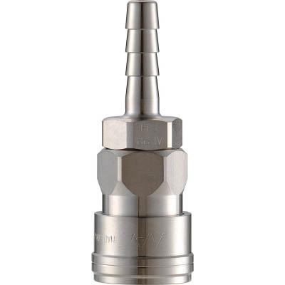 長堀工業:ナック クイックカップリング AL40型 ステンレス製 ホース取付用 CAL48SH3 型式:CAL48SH3