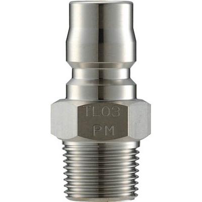 長堀工業:ナック クイックカップリング TL型 ステンレス製 メネジ取付用 バルブレス CTL16PM3 型式:CTL16PM3