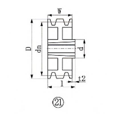 エバオン:EVN ブッシングプーリー SPZ 280mm 溝数3 SPZ280-3 型式:SPZ280-3