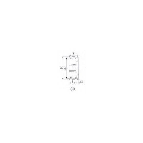 エバオン:EVN ブッシングプーリー SPB 206mm 溝数3 SPB206-3 型式:SPB206-3