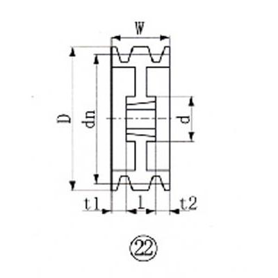 エバオン:EVN ブッシングプーリー SPA 250mm 溝数3 SPA250-3 型式:SPA250-3