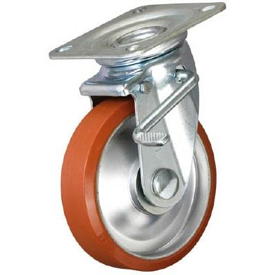 イノアック車輪:イノアック 中荷重用キャスター ログラン ストッパー・旋回金具付 Φ250 P-250WJS 型式:P-250WJS