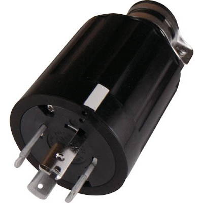 アメリカン電機:アメリカン電機 引掛形 ゴムプラグ 接地3P60A600V 4662R 型式:4662R