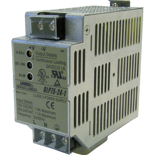 TDKラムダ:TDKラムダ FA用DINレール取り付けAC-DC電源 DLPシリーズ 180W DLP180-24-1 型式:DLP180-24-1