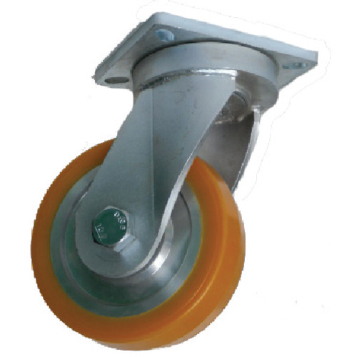 ヨドノ:ヨドノ 超重量用高硬度ウレタン自在車 1500kg用 HDUJ150 型式:HDUJ150