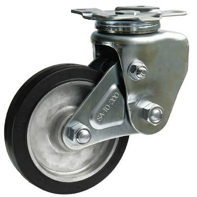 シシクSISIKUアドクライス:シシク 緩衝キャスター 自在 200径 ゴム車輪 SAJ-TO-200TRAW 型式:SAJ-TO-200TRAW
