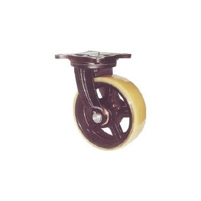 ヨドノ:ヨドノ 鋳物重量用キャスター 許容荷重656.6 取付穴径13mm MUHA-MG150X75 型式:MUHA-MG150X75