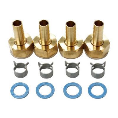 人気商品 給水給湯用配管器具 人気上昇中 循環金具 接続部品 リビラック :10Aペア樹脂管用部品セット ブライト 型式:RH4-10