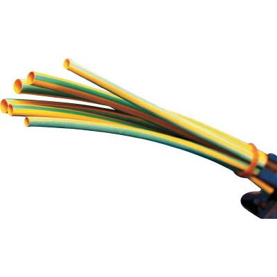 パンドウイットコーポレーション:パンドウイット 熱収縮チューブ 標準タイプ イエローグリーン 1箱(袋)=25本 HSTT12-48-Q45 型式:HSTT12-48-Q45(1セット:25本入)