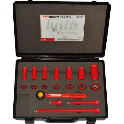 トップ工業:TOP 絶縁ソケットレンチセット 差込角9.5mm ZSWS-318R 型式:ZSWS-318R