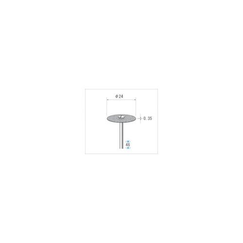 ナカニシ:ナカニシ 電着ダイヤモンドディスク#130刃径24×刃長0.35×軸径3 14314 型式:14314