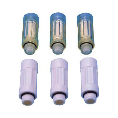 前田シェルサービス:前田シェル エクセルジュン・エアーガン交換カートリッジ透明り (3個入) JE-13T 型式:JE-13T(1セット:3個入)