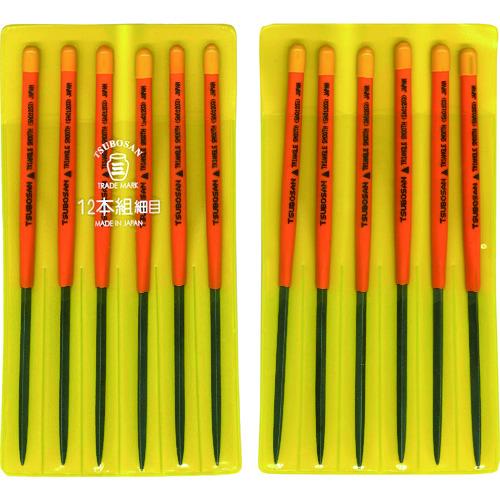 ツボサン:ツボサン 組ヤスリ 12本組 三角 細目 SA012-03 型式:SA012-03(1セット:12本入)