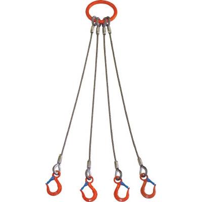 大洋製器工業:大洋 4本吊 ワイヤスリング 1.6t用×1m 4WRS 1.6TX1 型式:4WRS 1.6TX1