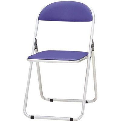 藤沢工業:TOKIO パイプ椅子 シリンダ機能付 アルミパイプ ブルー CF-700-BL 型式:CF-700-BL