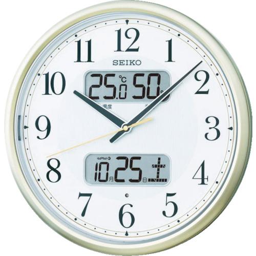 セイコークロック:SEIKO 電波掛時計 P枠 KX384S 型式:KX384S