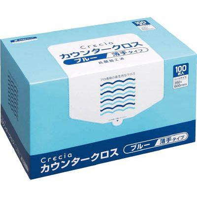 日本製紙クレシア:クレシア カウンタークロス 薄手タイプ ブルー 65433 型式:65433(1セット:600枚入)