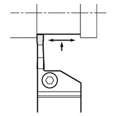 京セラ:京セラ 溝入れ用ホルダ KGDL2012K-3T20 型式:KGDL2012K-3T20