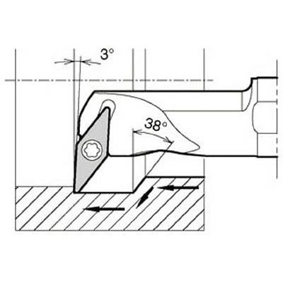 京セラ:京セラ 内径加工用ホルダ S25S-SVUBR16-34A 型式:S25S-SVUBR16-34A