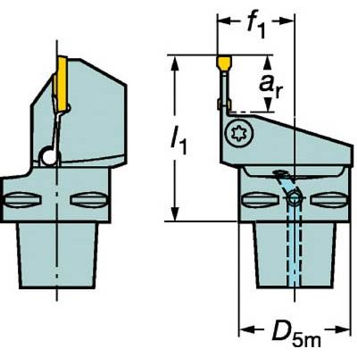 サンドビック:サンドビック コロマントキャプト コロカット1・2用カッティングユニット C6-RF123L16-45065B 型式:C6-RF123L16-45065B
