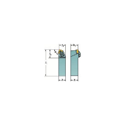 サンドビック:サンドビック コロターンRC ネガチップ用シャンクバイト DSBNR 2525M 12 型式:DSBNR 2525M 12