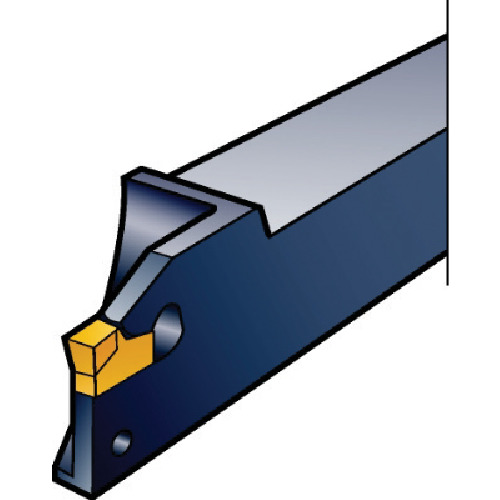 サンドビック:サンドビック T-Max Q-カット 突切り・溝入れ用シャンクバイト L151.20-1212-25 型式:L151.20-1212-25