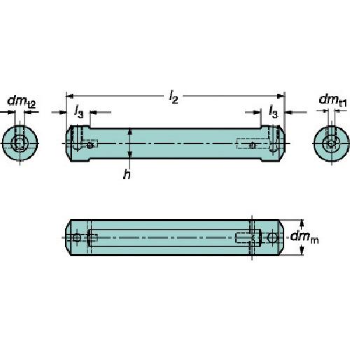 サンドビック:サンドビック コロターンXS 小型旋盤アダプタ CXS-A16-07 型式:CXS-A16-07