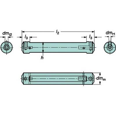 サンドビック:サンドビック コロターンXS 小型旋盤用アダプタ CXS-A20-07 型式:CXS-A20-07