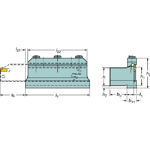サンドビック:サンドビック T-Max Q-カット ツールブロック 151.2-2520-25 型式:151.2-2520-25